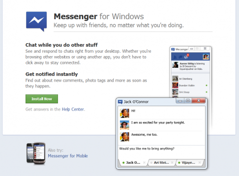 Read more about the article Facebook Messenger for Windows