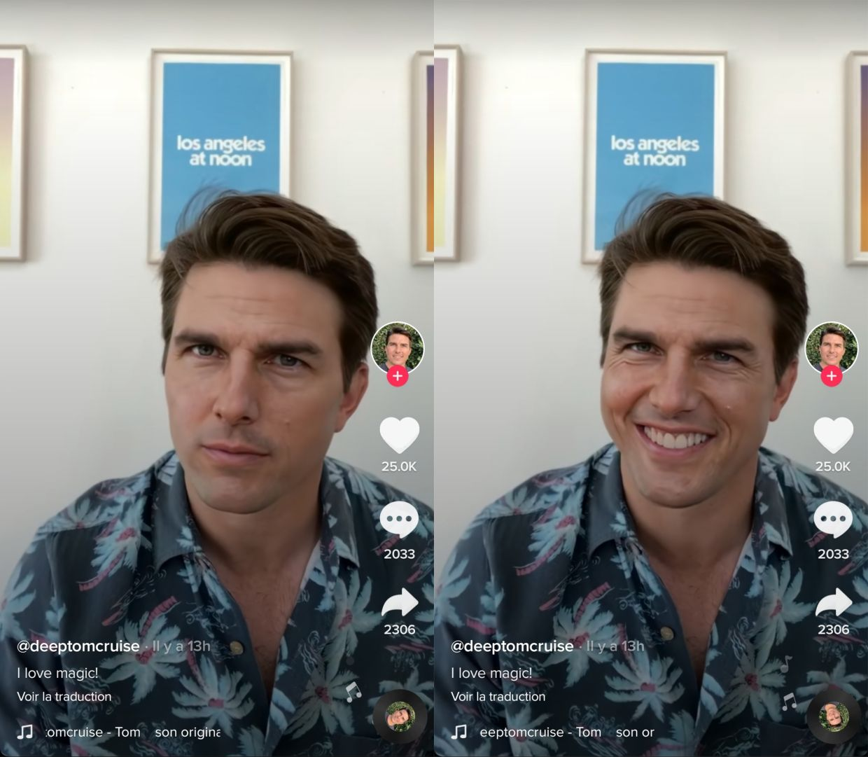 Tom Cruise or not Tom Cruise? Social Account's Confusion